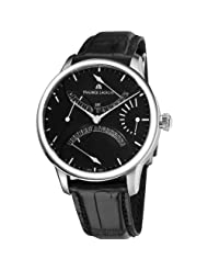 Maurice Lacroix Men's MP6518-SS001330 MasterPiece Black Leather Strap Watch