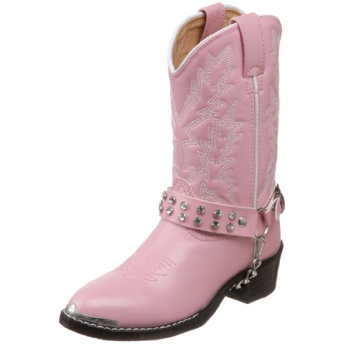 Durango Kids BT568 Lil' 8 Inch,Pink Bling Bling,11