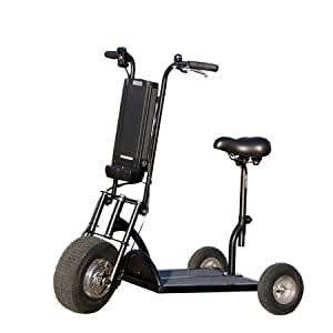 trottinette lectrique 3 roues pour senior avec selle et. Black Bedroom Furniture Sets. Home Design Ideas