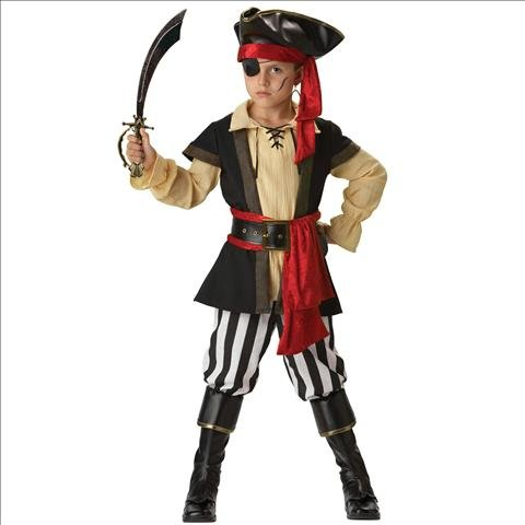Pirate Scoundrel Elite Collection Child Costume (As Shown;8)