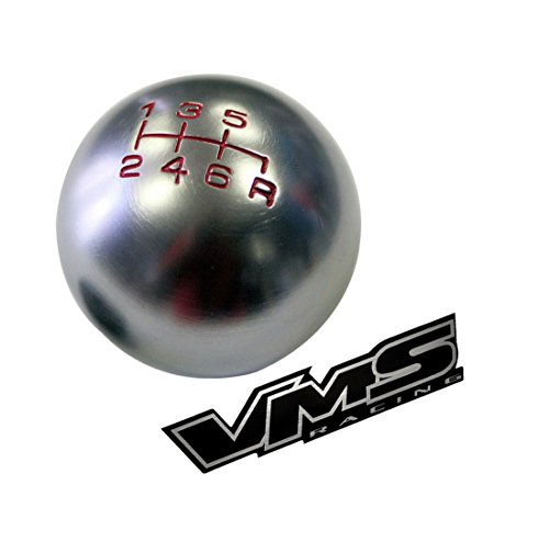 10x1.25mm Thread 6 speed JDM Round Ball Shift Knob in Gunmetal Grey Gray Silver Billet Aluminum for Infiniti G35 G37 G37S (Gun Shifting Knob compare prices)