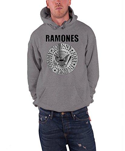 Ramones -  Felpa con cappuccio  - Maniche lunghe  - Uomo grigio Small