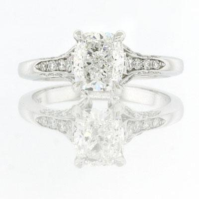1.96ct Cushion Cut Diamond Engagement Anniversary