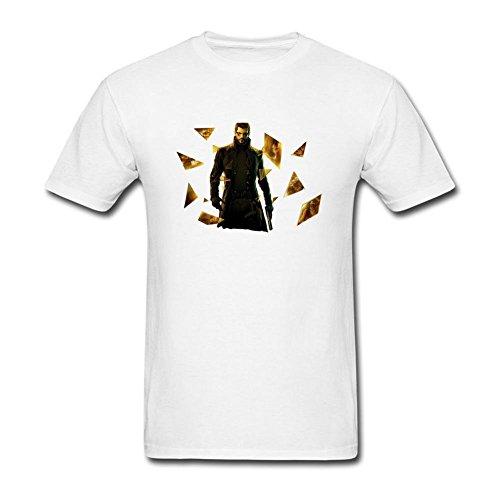 ryc5bd da uomo Deus Ex rivoluzione umana JC Denton T Shirt White Medium