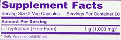 Now Foods L-tryptophan 500mg, Veg-Capsules