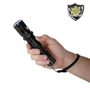Police Force 5 Million Volt Rechargeable Tactical Flashlight Stun Gun w  160 Lumen Bright... by StreetWise