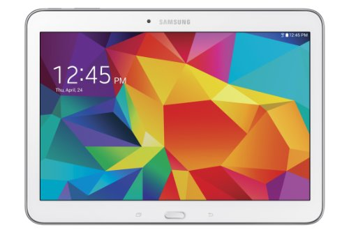 Samsung Galaxy Tab 4 Tablette tactile 10.1″ Processeur quad-core 1,2 GHz 16 Go Android 4.4 KitKat Wi-Fi Blanc (Import Europe)
