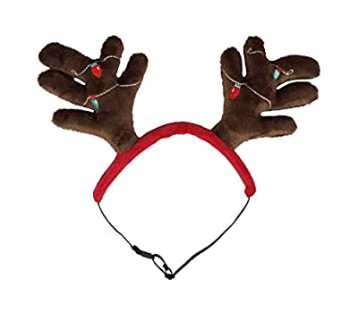 Outward Hound 11001 Christmas Holiday Antler Headband, Medium