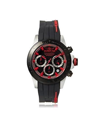 Invicta Men's 17190 Speedway Black/Red Silicone Watch
