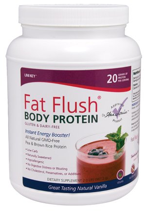 Fat Flush Body Protein - Gluten and Dairy-free Pea and Rice Protein Powder