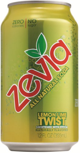 Zevia Natural Diet Soda, Twist, 12-Ounce Cans (Pack of 24)