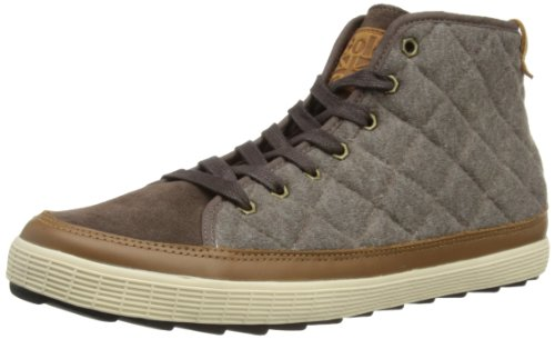 Gola Mens Stag Feature High High-Top CMA 132 Mocha Jersey/Dark Tan 8 UK, 42 EU