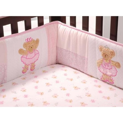 Kids Line Twirling Around Crib Sheet
