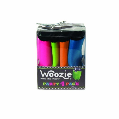Oenophilia Woozie Neoprene Wine Glass Sleeve, Maui Collection, Party Pack Set of 4 Assorted