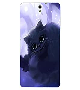 ColourCraft Cute Cat Design Back Case Cover for SONY XPERIA C5 ULTRA DUAL