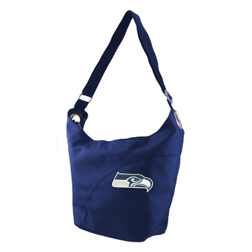 NFL Seattle Seahawks Women's Colo Sheen Hobo Purse, Navy at Amazon.com