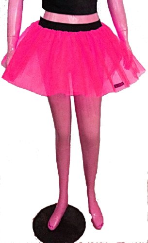 Neon Uv Hot Pink Tutu Petticoat Skirt Punk Cyber Rave Dance Hen Fancy Costumes Party UK Free Shipping
