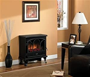 Duraflame 25 Inch Remote Control Black Electric Stove Heater