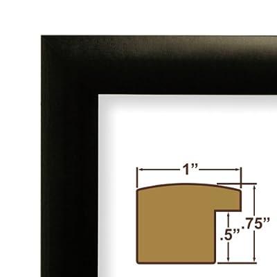 11x17 Picture Frame / Poster Frame 1 Wide Complete Solid Matte Black Frame (1WB3BK)