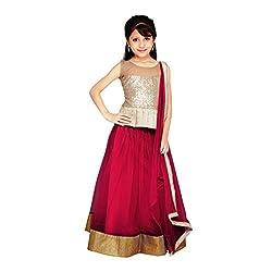 Najara Fashion fancy material traditional semi-stitched lahenga choli (njc003 10-11 yr)