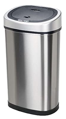 buy Nine Stars Dzt-50-9 Infrared Touchless Stainless Steel Trash Can, 13.2-Gallon