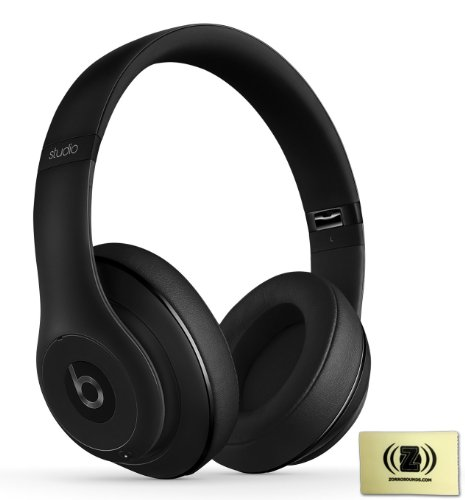 Beats By Dr. Dre Studio Over-Ear Headphones (Matte Black) Bundle With Custom Design Zorro Sounds Cleaning Cloth
