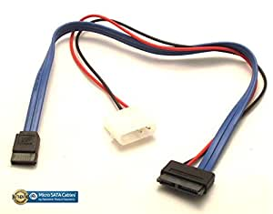 """13 pin Slimline SATA 12"""" Cable Power and DATA"""