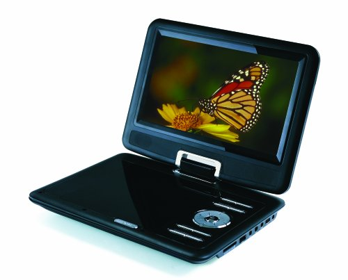 Sylvania SDVD9000B2 9-Inch Portable DVD Player with Car Bag/Kit, Swivel Screen, USB/SD Card Reader, Piano Black Finish