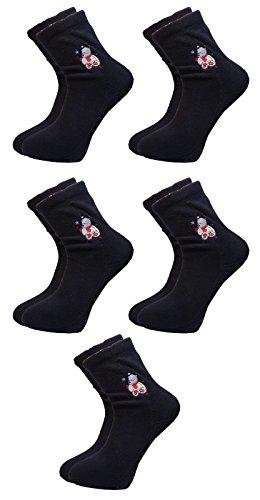 bon-marche-5-chaussettes-pour-dames-polaire-bleu
