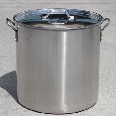 CONCORD Polished Stainless Steel Stock Pot Brewing Beer Kettle Mash Tun w/ Flat Lid (30 QT) (Stainless Steel 30 Quart Pot compare prices)