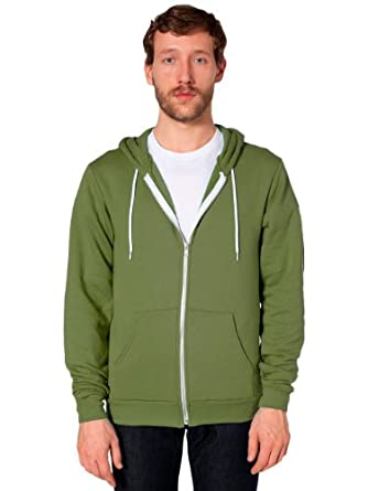 American Apparel Flex Fleece Zip Hoodie - Barrack Green / XXS