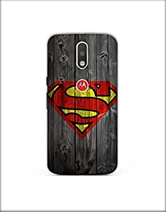 Moto g4 plus ht003 (97) Mobile Case by Mott2 - Superman Logo (Limited Time Offers,Please Check the Details Below)