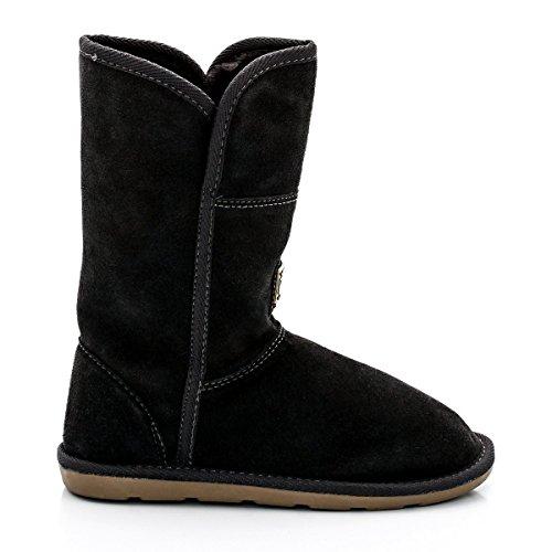 Les Tropeziennes Par M Belarbi Bambina Boots In Pelle, Pelliccia, Arctique 32