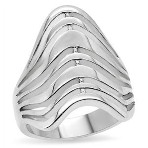 RIGHT HAND RING - Multi-Row High Polished Stainless Steel Ring