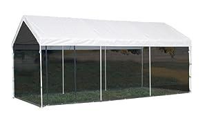 ShelterLogic 10x20 1-3 8 8-Leg Canopy with Screen Kit (White) by ShelterLogic