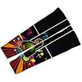 ScudoPro Mona Lisa Cyclist Compression Arm Sleeves UV Protection Unisex - Walking - Cycling - Running - Golf -...