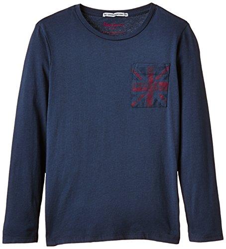 Pepe Jeans Jungen T-Shirt, TADEO, GR. 176 (Herstellergröße: 16 ans), Blau (Midnight)