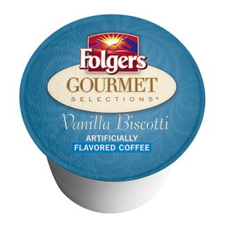 Folgers Gourmet Selections K-Cups, Vanilla Biscotti-3.81 oz, 12 ct
