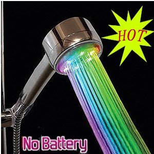 Factory Price Led Bathroom Shower Head with Saving Water Function Bathroom Showerheads ,Bathroom Shower ,Faucet,function of the Temperature-sensitive Rains Led Shower Head