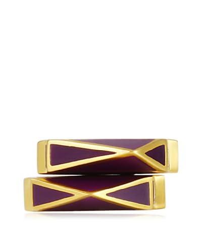 Isharya Set of 2 Purple Pyramid Stackable Rings As You See
