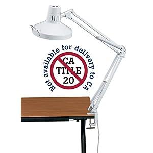 Alvin White Swing-Arm Combination Lamp