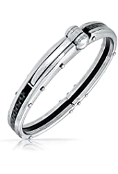 Bling Jewelry Secret Shades Obession Carbon Steel Handcuff Bracelet