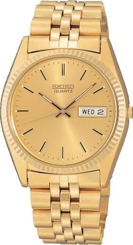 Seiko Men's Dress Gold-Tone Watch #SGF206
