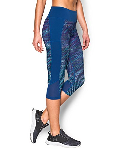Under Armour Women's Fly-By Printed Run Capri, Sky Blue (914), Medium (Under Armour Capri Workout Pants compare prices)