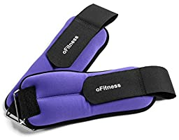 oFitness Ankle and Wrist Weights, 6 Pound Set