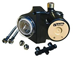 Watts 500805 Premier Hot Water Recirculation Pump, Black