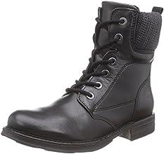 Tamaris 25256 combat bottes femme - Noir - Noir, 39 EU
