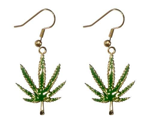 Marijuana Pot Leaf Earrings