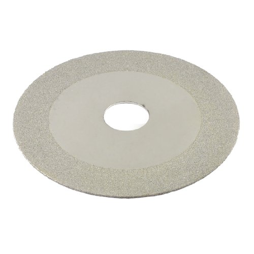 3.9″ Dia 160 Grit Diamond Coated Glass Grinding Cutting Disc Silver Tone