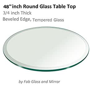 Amazon Com Glass Table Top 48 Inch Round 3 4 Inch Thick